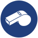 whistle icon for adult co-ed austin indoor volleyball leagues