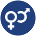 gender symbols icon for adult co-ed austin indoor volleyball leagues