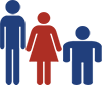 male and female silhouettes of varying body type for corporate wellness program Minneapolis mn