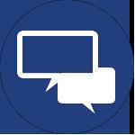 two conversation bubbles icon for Minneapolis mn corporate wellness program