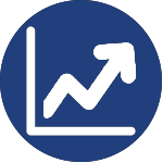 increasing graph icon for corporate wellness program Minneapolis mn