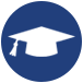 graduation cap icon for minneapolis ssl community coordinator