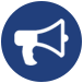 megaphone icon for minneapolis ssl community coordinator