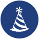 party hat icon for for minneapolis ssl social coordinator job opportunity